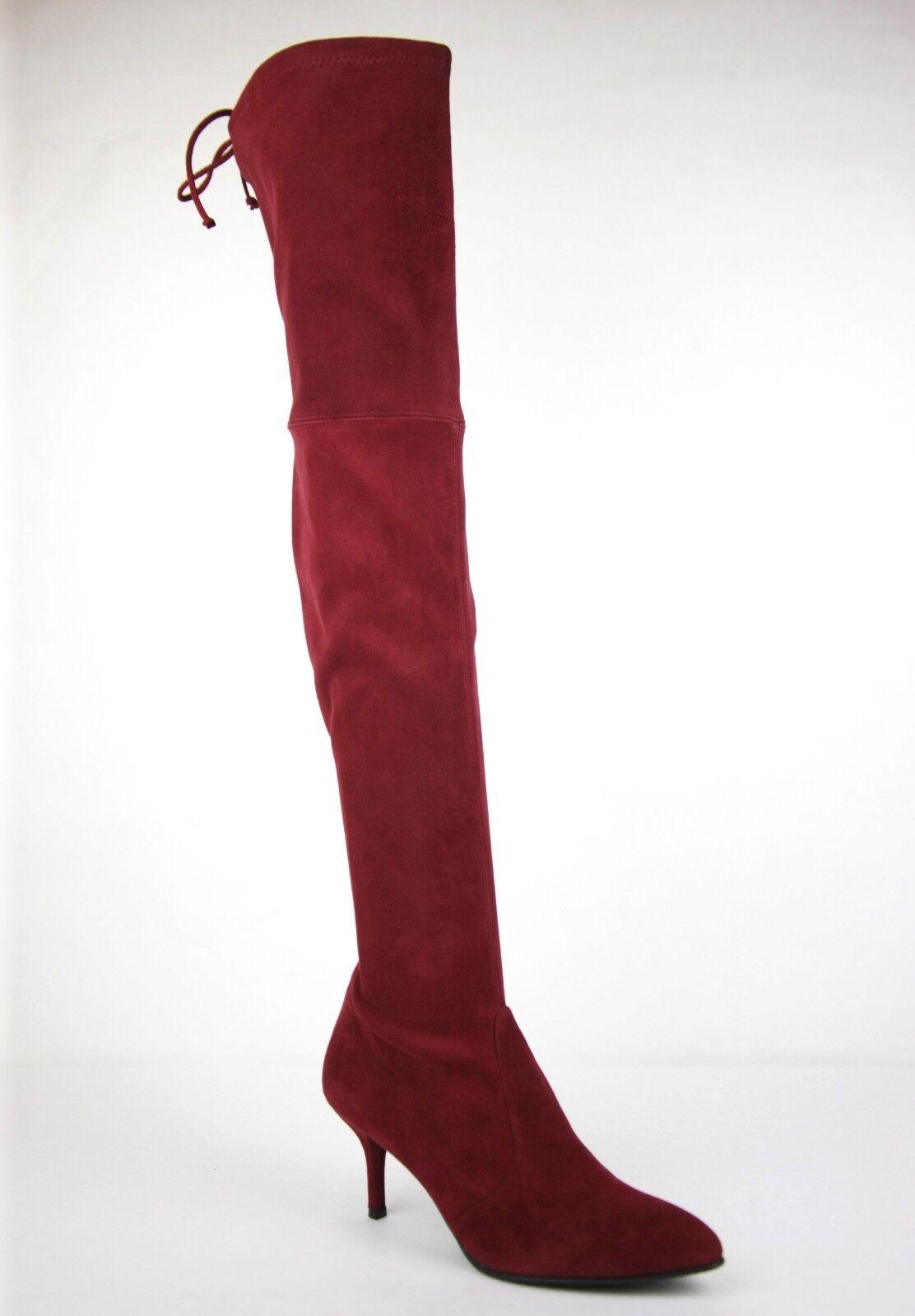 798 Nueva Stuart Weitzman Scarlet Gamuza tiemodel over-the-Rodilla Bota Bota Bota  connotación de lujo discreta