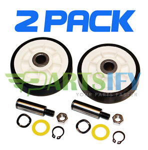 2 PACK - NEW AP4008534 DRYER SUPPORT ROLLER WHEEL KIT FOR MAYTAG AMANA WHIRLPOOL