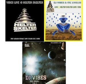 DJ-VIBES-CD-039-S-OLD-SKOOL-HAPPY-HARDCORE-3x-CD-039-S-NYE-1996-JUNE-1996-VOL-1