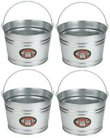 (4) Ea Behrens Mfg C17gs 4 Gallon Galvanized Round Wash Tub W Handle