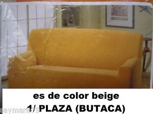 Funda sillon / butaca 1 / PLAZA ELASTICA NUEVA color beige
