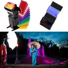 Flash Diffuser Lighting Gel Color card correct Pop up Filter For Speedlite 12pcs