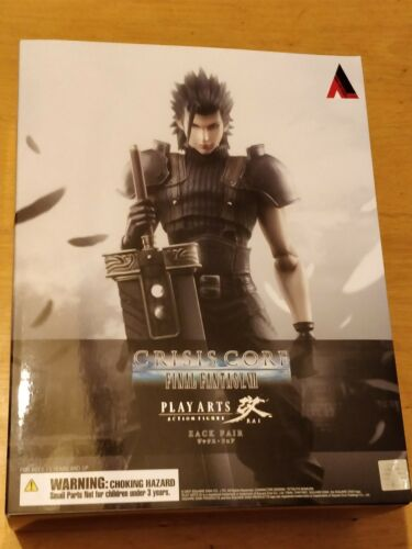 7 FINAL FANTASY VII CRISIS CORE Zack Fair Play Arts Kai Figura-NUOVO e SIGILLATO