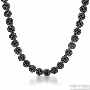 Black-Iced-Out-CZ-Flat-Pave-Lab-Made-Mens-Chain