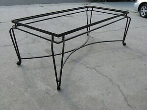 Wrought Iron Table Base With Glass Top Ebay