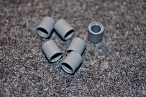 6 #1 Dark Gray Spacers Sleeve Technic Lego Bricks ~ New Parts