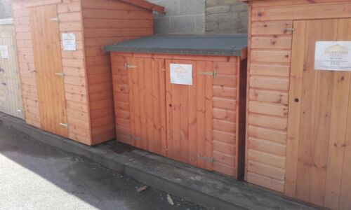 """6FT X 2FT 6/"""" GLORY BOX TOOL SHED WOODEN BALCONY STORE  PENT T/&G HUT 4FT TALL"""