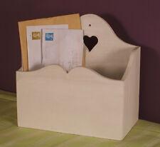 New Stylish Shabby Chic Wooden White Heart Letter Rack Desk Letter Holder