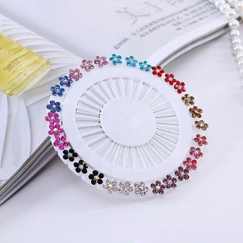 Scarf Brooch Pins Floral Rhinestone Crystal Multicoloured Party Weddings
