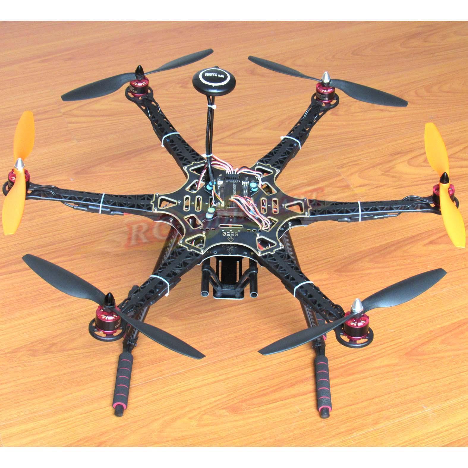 Hazlo tú mismo S550 Hexacóptero con APM2.8 FC NEO-7M GPS HP2212 920KV BL Motor Simonk 30A Esc