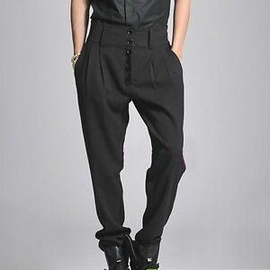 Men S Pants Loose High Waist Fashion Trousers Slim Korean Long