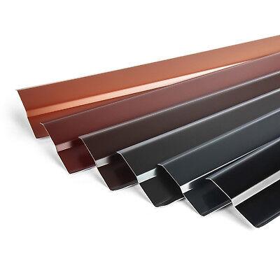 Aluminiumblech Wandanschlussleiste Wandanschlussschiene 2 Meter Farbe BRAUN