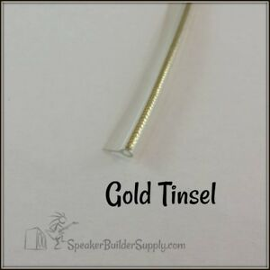 Gold Or Silver Tinsel Grill Piping 316 Diameter Bead Per Foot Ebay