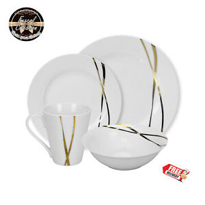 Image Is Loading 16pcs Dinner Set Luxury Design Home Kitchenware Dinnerware