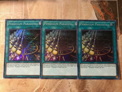 Secret Rare Pendulum Paradox 1st Edition MP18-EN209