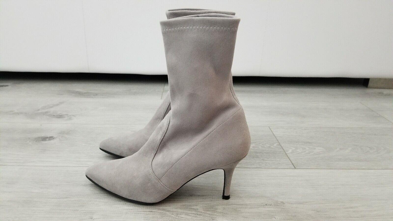 consegna lampo Stuart Weitzman grigio grigio grigio Suede Cling Ankle stivali.  Dimensione 6.5. Worn Once.  tutti i prodotti ottengono fino al 34% di sconto