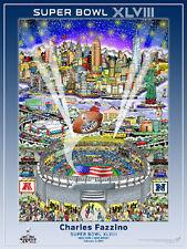Super Bowl XLVIII New York New Jersey 2014 Official Pop Art POSTER by Fazzino