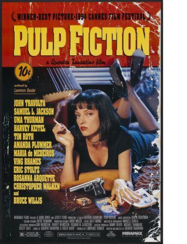 "TIN SIGN /""Pulp Fiction/"" Movie Garage Wall Decor"