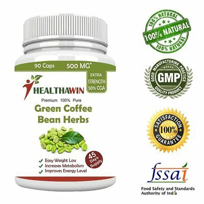 Pure Green Coffee Bean Extract Supplement For Weight Loss 90