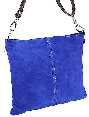 Echt LEDER Umhängetasche Wildleder IT BAG XL Schulter Tasche Ledertasche H/M-232