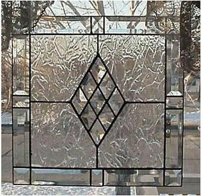 "Victorian Bevel Frame Kit EASY- 21"" Stained Glass project is CLEAR BEVELS ONLY"