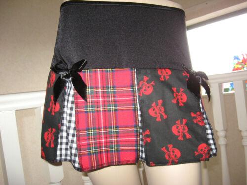 NEW Red,Black,White,skulls,tartan,gingham check,Festival  Skirt-All sizes,Lolita