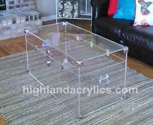 Charmant Image Is Loading Acrylic Lucite Clear Large Trunk Coffee Table