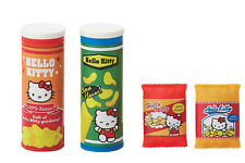 Sanrio Hello Kitty Parody Snack Food Potato Chips Bag 4pc Complete Set Erasers