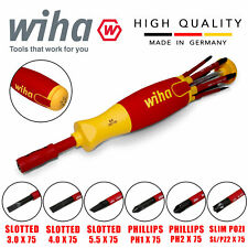 Wiha 38613 Electricians Insulated Vde 6 Piece Screwdriver Set Slotted Ph Pz