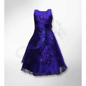 96661a4c441 Girls Dresses Cadbury Purple Layered Flower Gowns Girl Dress Wedding ...