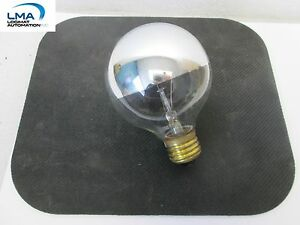 SPECTRO-40G25HM-40W-HALF-MIRROR-GLOBE-BULB-LIGHT-LAMP-130V-ROUND-NEW