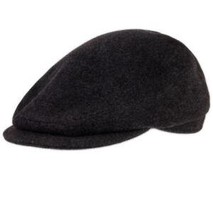 ae86e9e7b3790 Image is loading Dark-Gray-Wool-Blend-Mens-Flat-Cap-Mens-