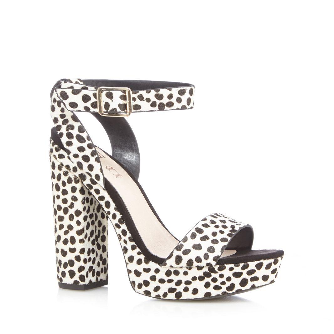 Faith - - Faith Leopard print high platform ankle strap sandals UK 5 EU 38 NH085 RR 03 4f78ba