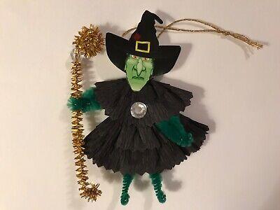 Paper doll Vintage Halloween ornaments cat trick or treat item# 31