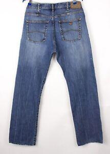 Armani Jeans Hommes Extensible Jambe Droite Jean Taille W34 L32 BDZ132