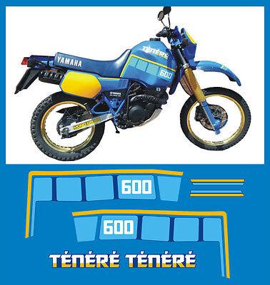 YAMAHA XT 600 Z TENERE 1VJ 86 blu  serbatoio  - adesivi/adhesives/stickers/decal
