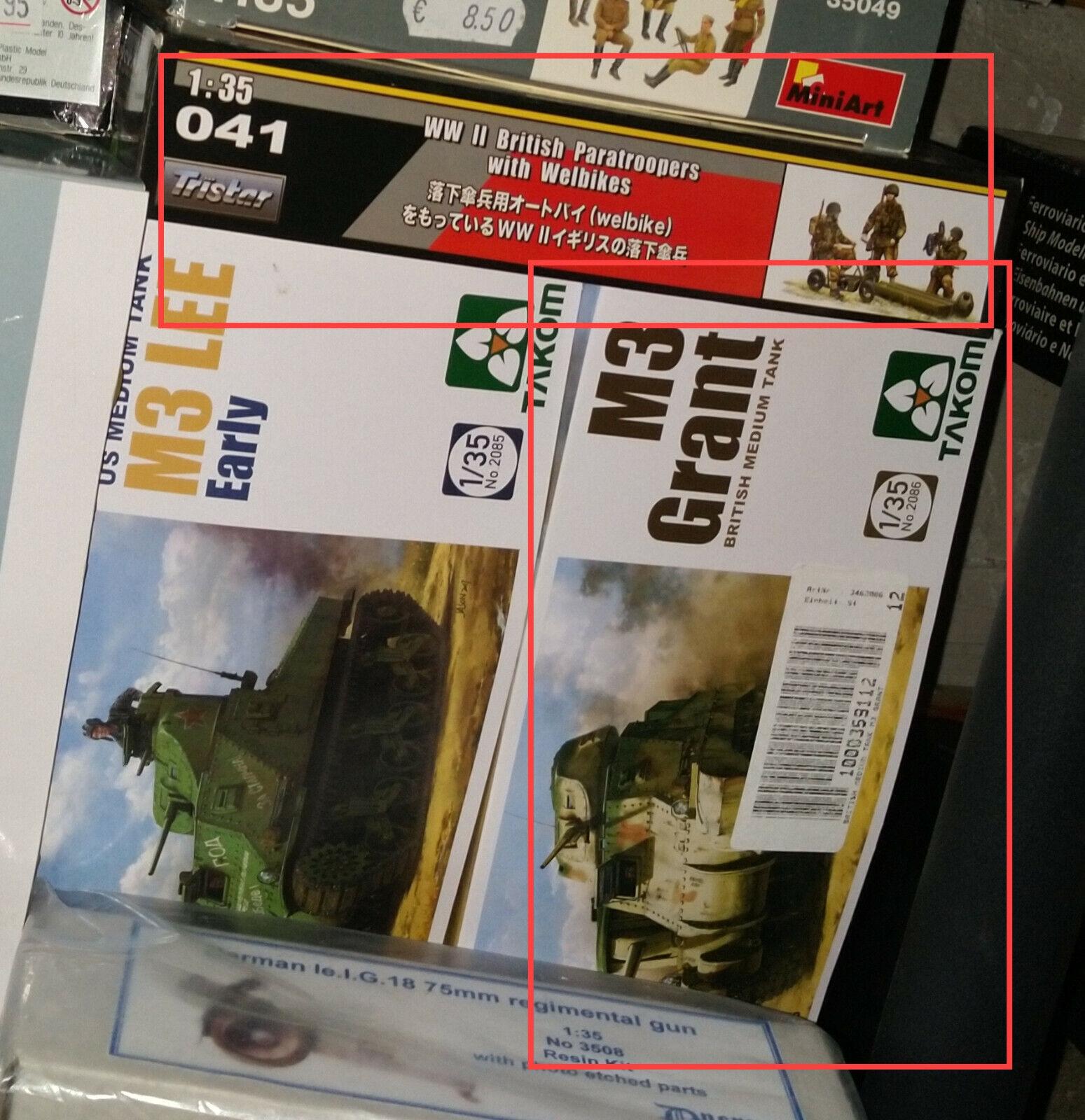1 35 Panzerbausatz-Konvolut  Britische Fahrzeuge und Figures, 2.WK  - 4 Bausätze