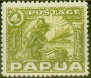 Papouasie-1932-4d-Vert-Olive-SG135-Fin-MTD-Excellent-Etat