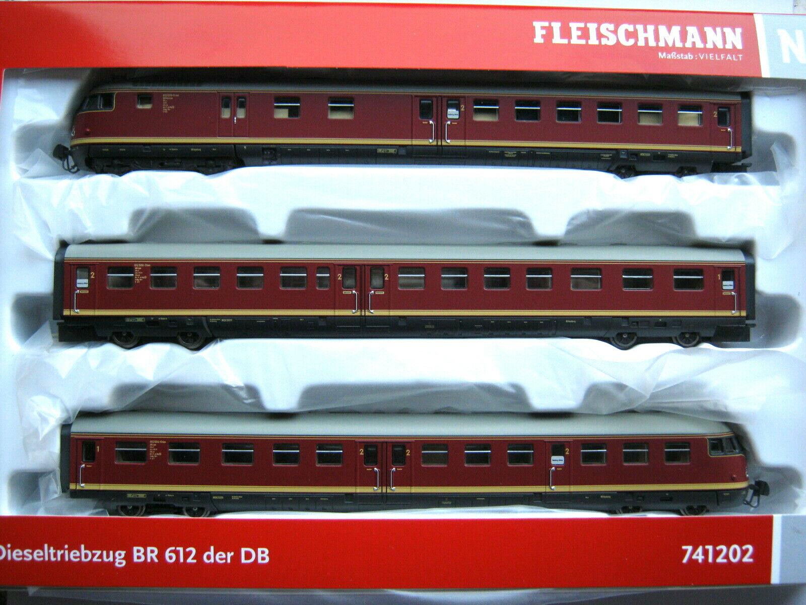 Fleischmann N 741202 BR 612 (VT 12.5) Diesel TRIEBZUG DB ep.4 NUOVO ov uova testa DSS