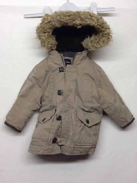 3de44c5ae252 Baby Gap Sherpa Lined Brown Hoodie Heavy Coat Jacket Boys Toddler ...
