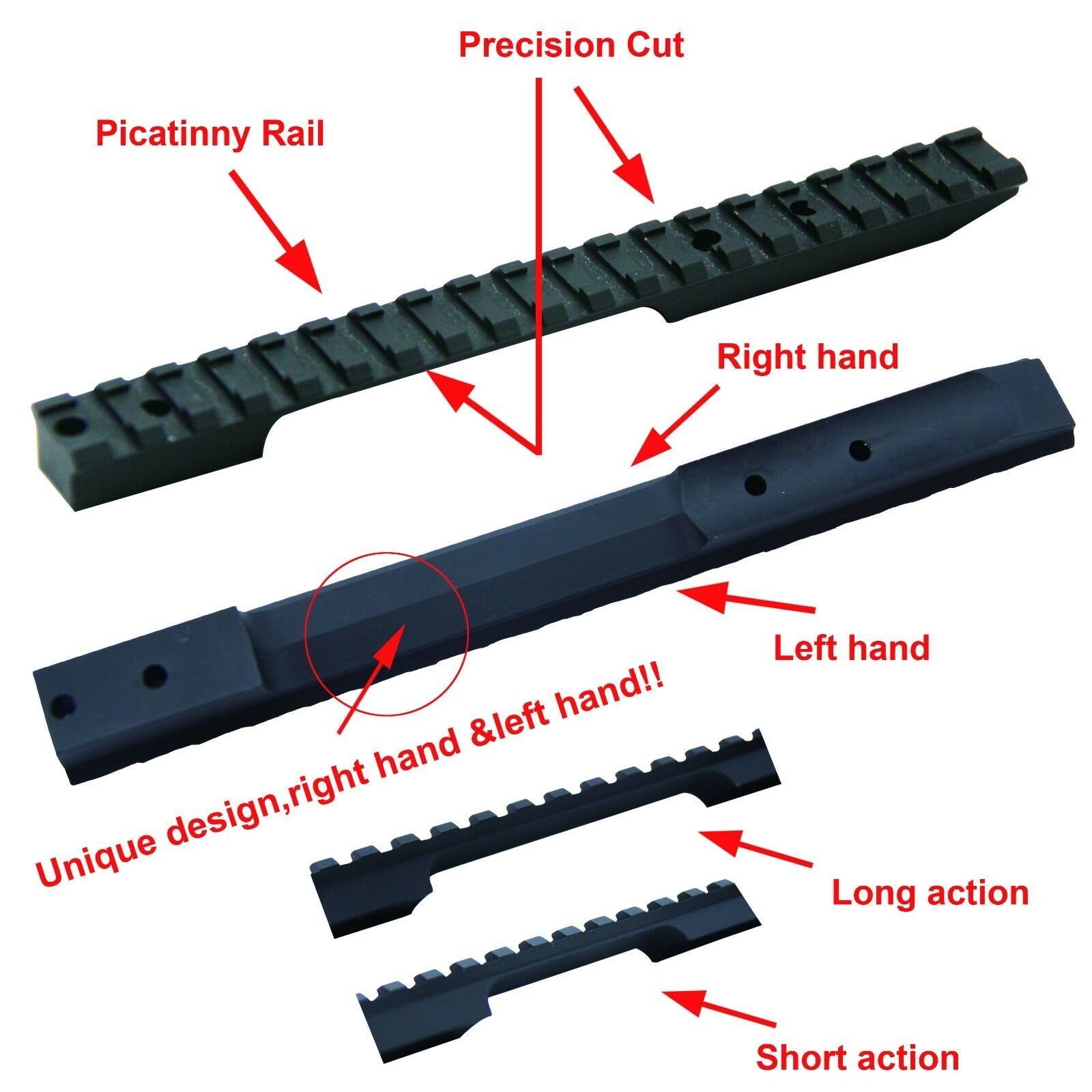 CCOP USA Remington 700 Long /& Short Action 40X 78 Picatinny Steel Base PB-REM101