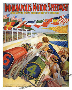 Wall Art Poster of the 1909 Indy / Indianapolis Motor Speedway  11x14