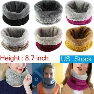 Women Warm Knit Neck Warmer Circle Wrap Loop Snood Scarf Winter Shawl Warmer