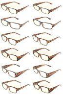 Reading Glasses [+2.25] 12 Pair Tortoise Plastic Frame Wholesale Reader 2.25