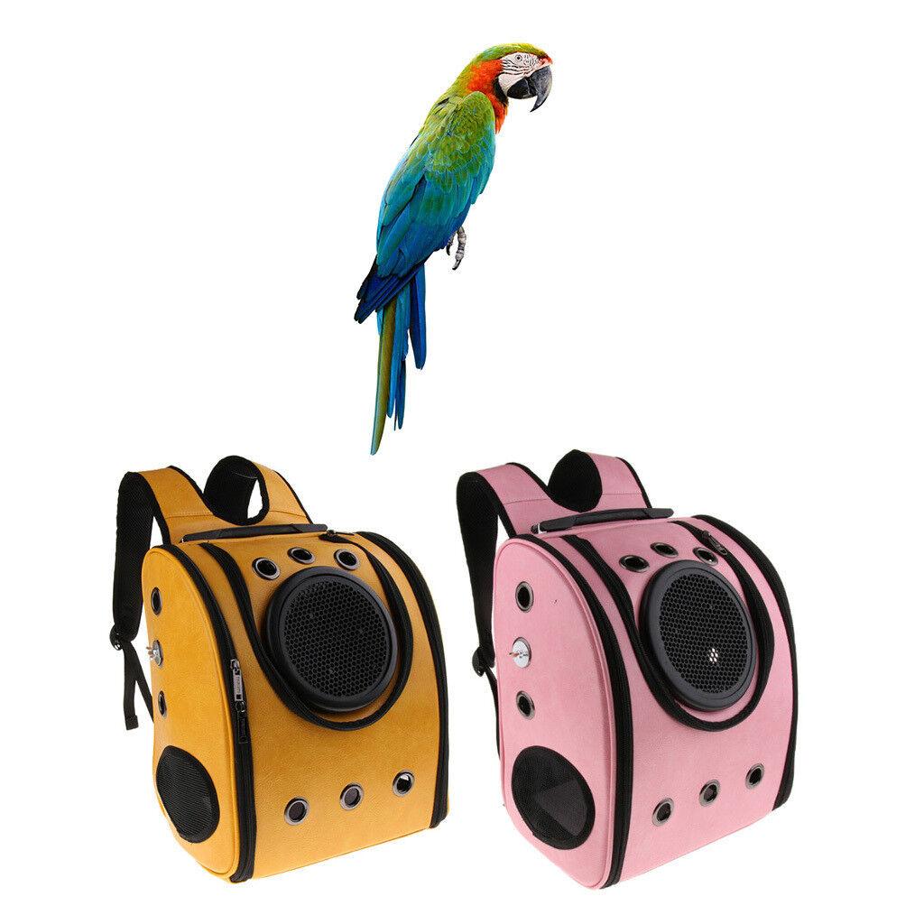 Portatile Bird Vettore Viaggio Zaino Gabbia con trespolo Per Pappagallo Cacatua