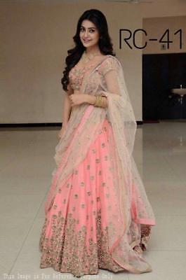 Party Wear Lehenga Indian Wedding Ethnic Lengha Chunri Ghagra Top Chaniya Choli