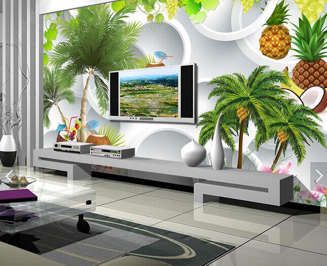 3D Ananas-Baum 497898 Fototapeten Wandbild Fototapete BildTapete Familie DE