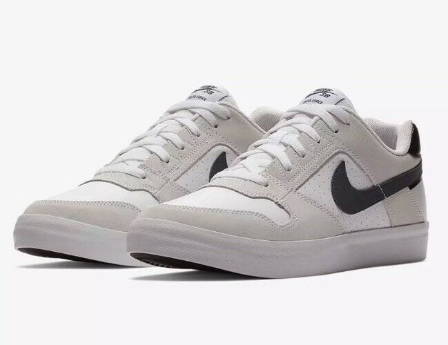 c5524ff6c8ad NEW NEW NEW Nike SB Delta Force Vulc 942237 100 white blue black Skateboard