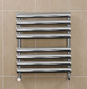 Image Is Loading Stainless Steel Bathroom Radiator  Horizontal Wall Hung Towel