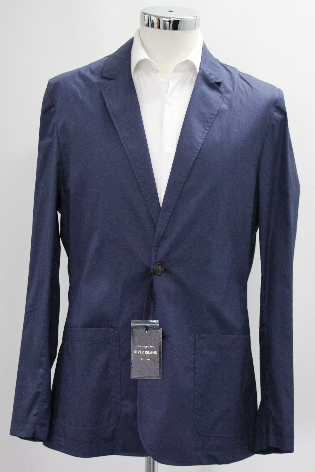 Men's River island, casual bluee coat (M).. sample 2421
